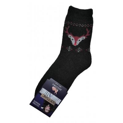 Женские ангоровые носки SOFTSAIL 35-38 размера черного цвета (модель 7292)