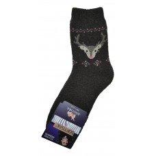 Женские теплые носки из шерсти ангоры SOFTSAIL №7292 коричневого цвета 35-38 размера