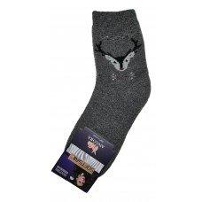 Женские теплые носки из шерсти ангоры SOFTSAIL №7292 темно-серого цвета 35-38 размера