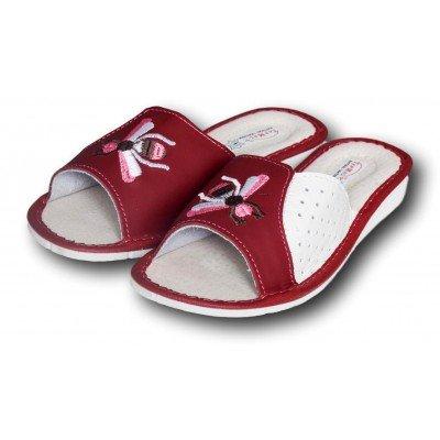 Женские кожаные домашние тапочки TapMal 40 размера 25 см (модель A170rw)