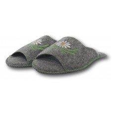 Комнатные женские паркетные войлочные тапочки TapOK T504 серые