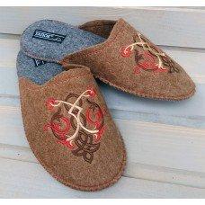Комнатные женские паркетные войлочные тапочки TapOK T511br коричневые