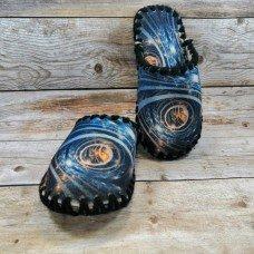 Комнатные фетровые женские тапочки ручной работы VENDS 5-57W 38/39 размера