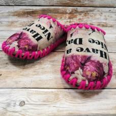 Комнатные фетровые женские тапочки ручной работы VENDS 5-93W 40/41 размера