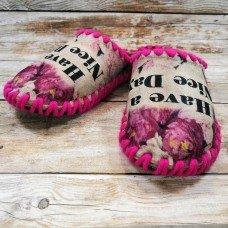 Комнатные фетровые женские тапочки ручной работы VENDS 5-93W 36/37 размера