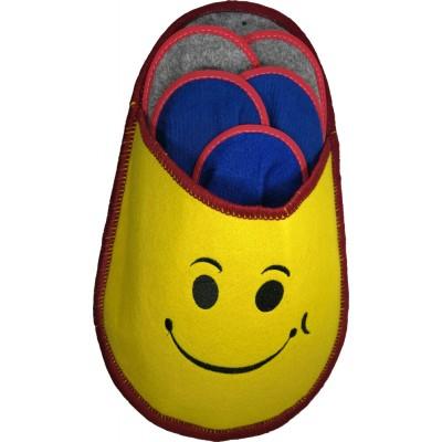 Набор тапочек для гостей желтого цвета