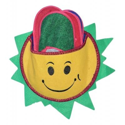 Набор тапочек для гостей в виде звезды с зелеными лучами