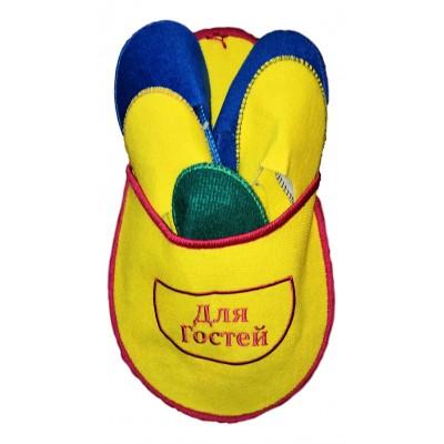 """Набор тапочек для гостей TapOk с надписью """"Для гостей"""" желтого цвета (модель 1006-03)"""