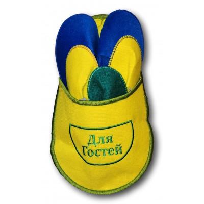 """Набор тапочек для гостей TapOk с надписью """"Для гостей"""" желтого цвета (модель 1006-05)"""