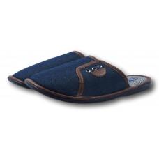 Комнатные подростковые джинсовые тапочки БЕЛСТА (BELSTA) B2303 синие