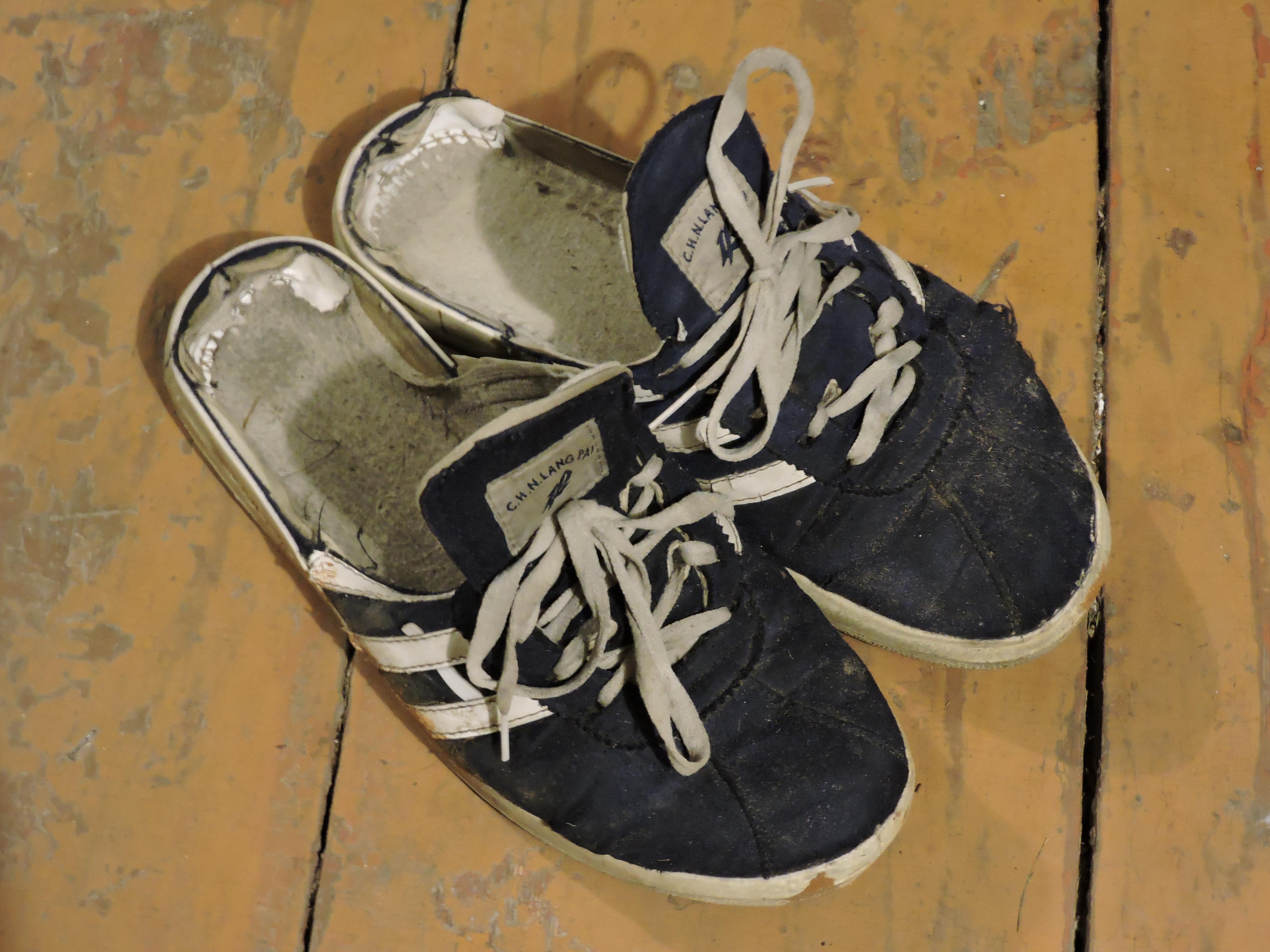 Обувь тапочки, изготовленные из кед