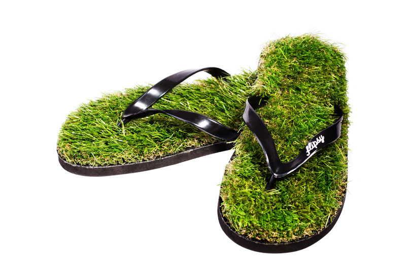 тапки со стелькой из травы