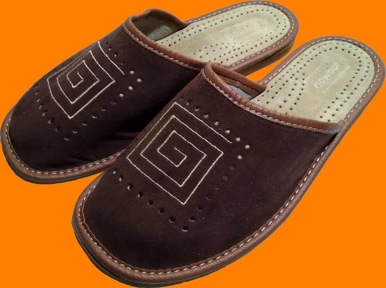 Кожаные тапочки мужские Nowbut N505. Фото 1