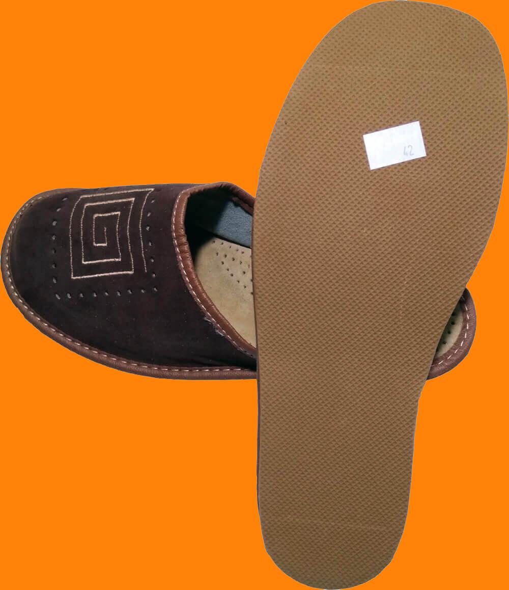 Кожаные тапочки мужские Nowbut N505 42 размера. Фото 2