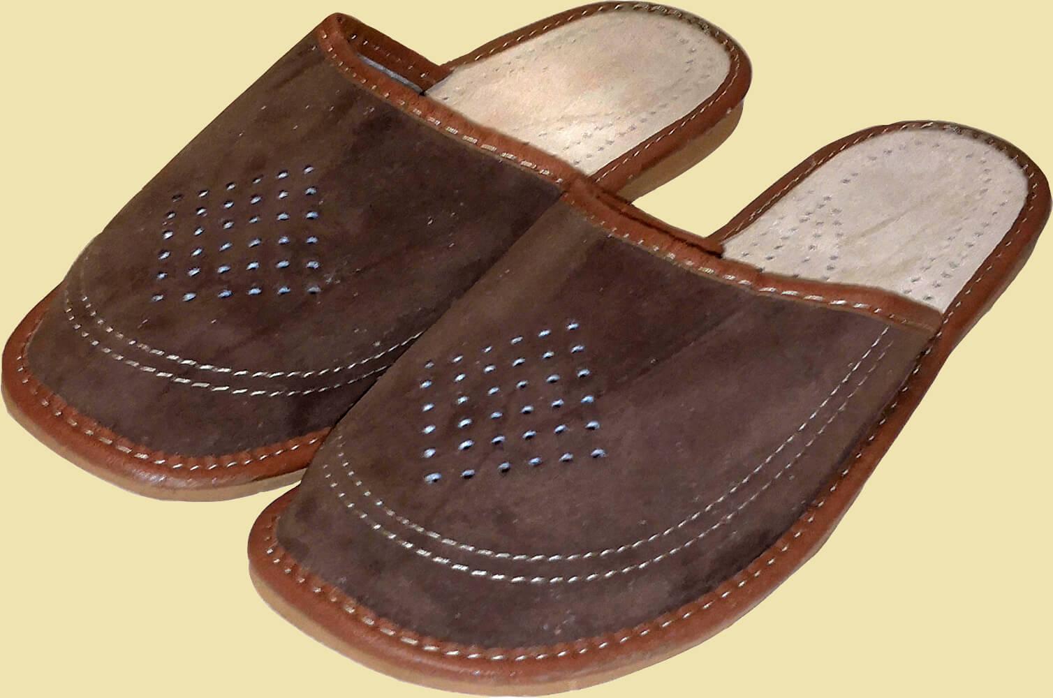 Кожаные тапки мужские Nowbut N507 44 размера. Фото 1