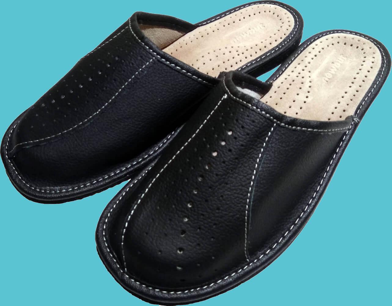 Кожаные тапочки мужские Nowbut N514 45 размера. Фото 1