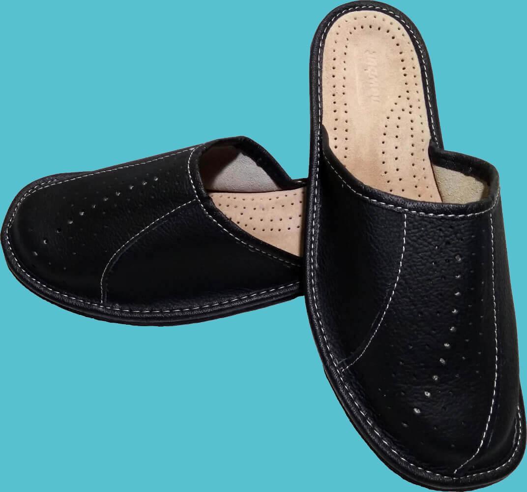 Кожаные тапочки мужские Nowbut N514 45 размера. Фото 2