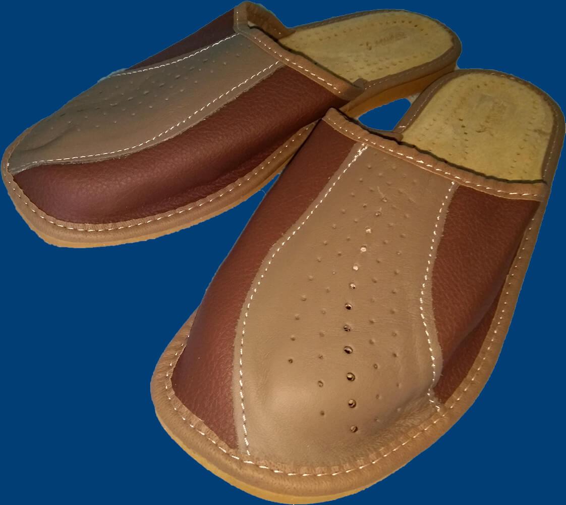 Купить кожаные тапки мужские Nowbut N518. Фото 1