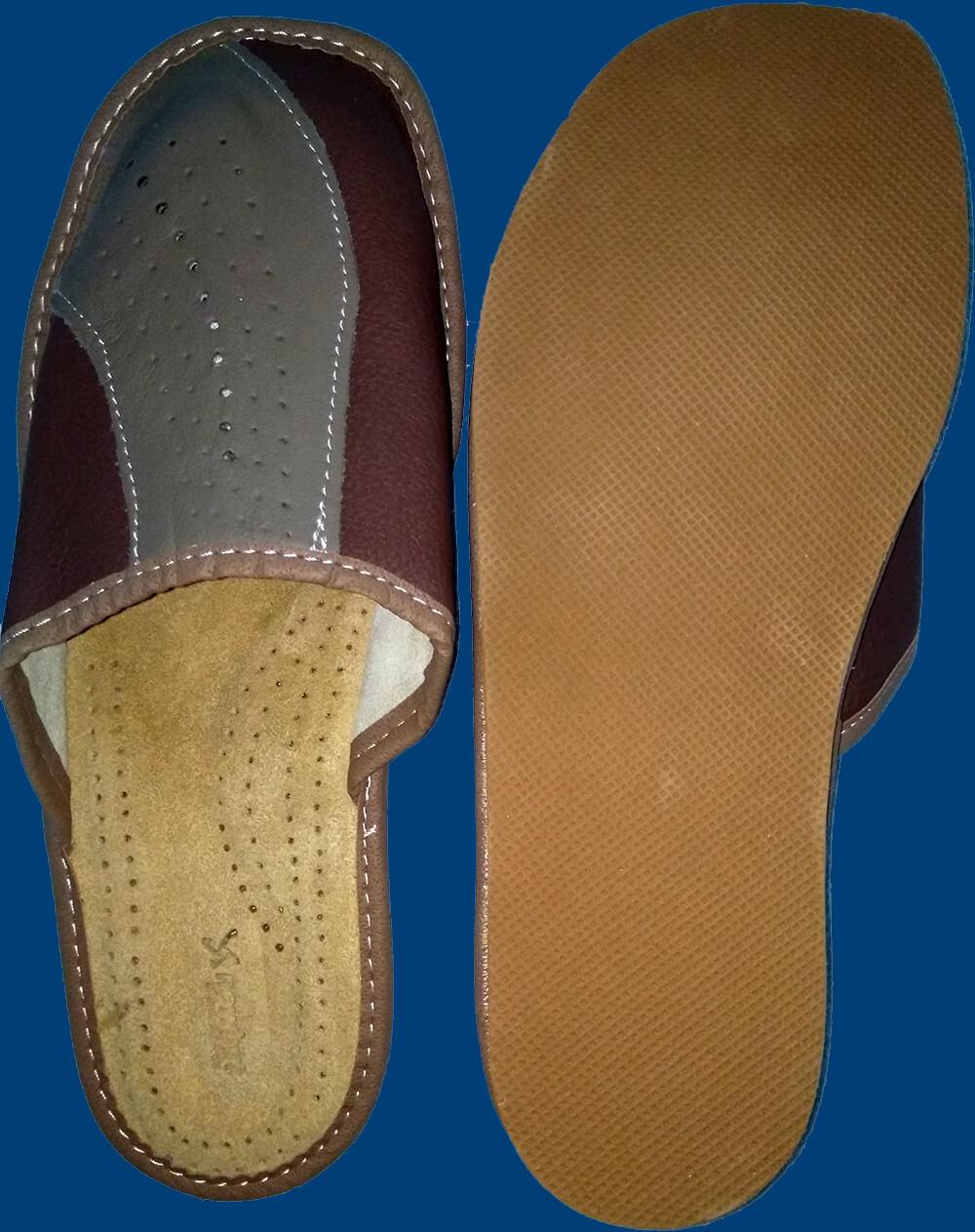 Купить кожаные тапки мужские Nowbut N518. Фото 2