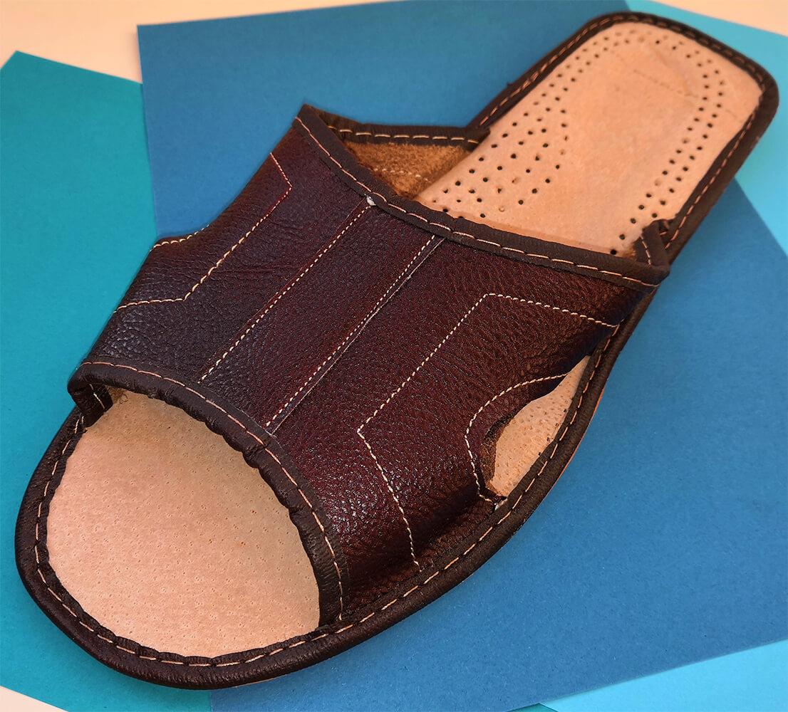 Тапочки кожаные мужские Polmar P103-03 46 размера. Фото 2