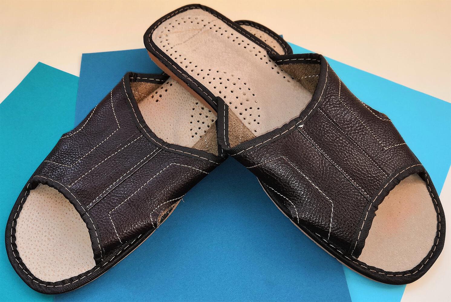 Тапочки кожаные мужские Polmar P103-03 46 размера. Фото 3