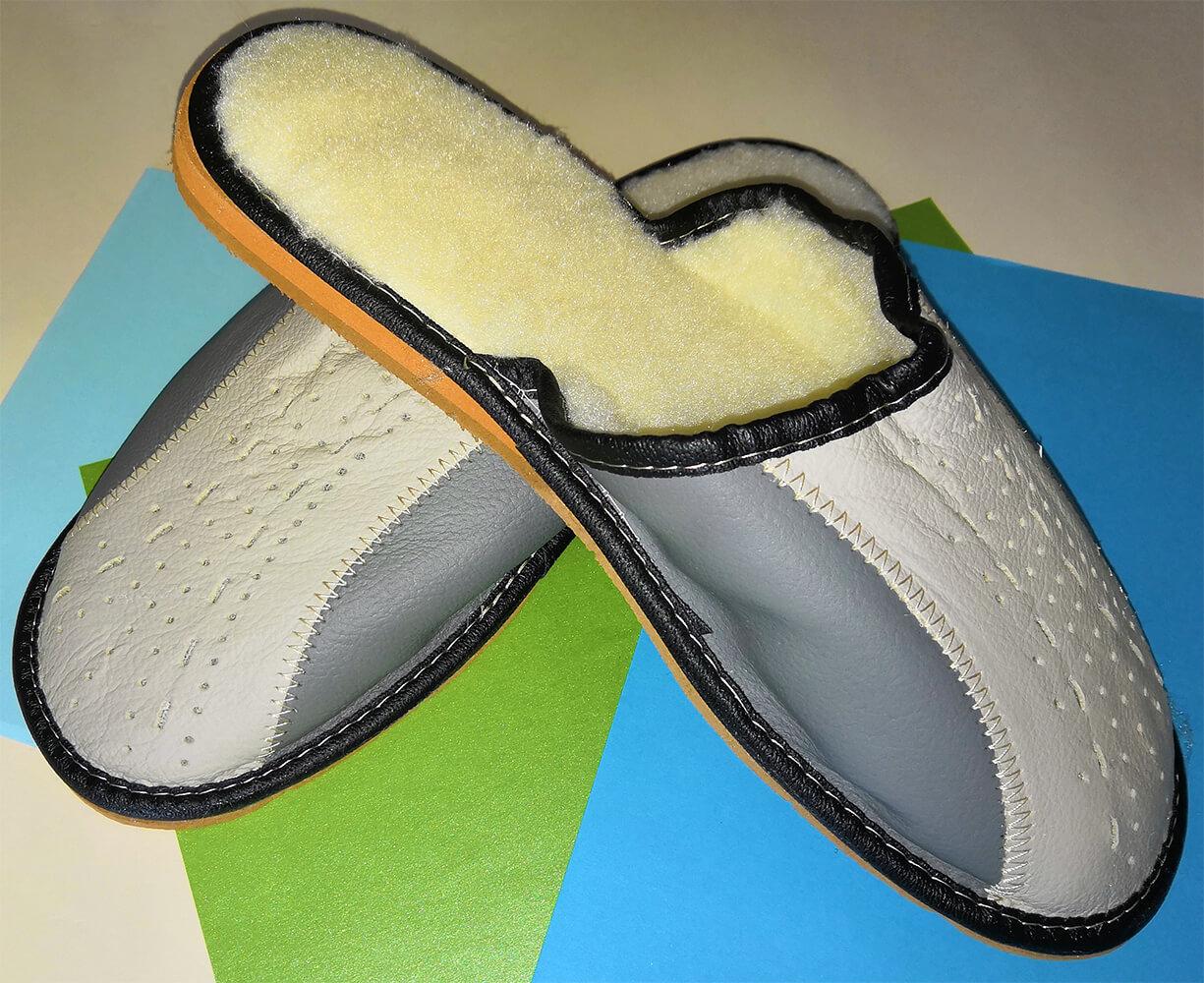 Мужские кожаные теплые тапочки Polmar P208 42 размера. Фото 3