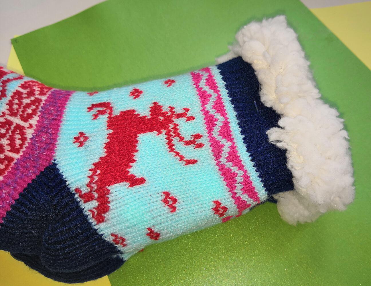 Детские носки-тапочки Emi Ross EJ-6208-b синего цвета.. Фото 1