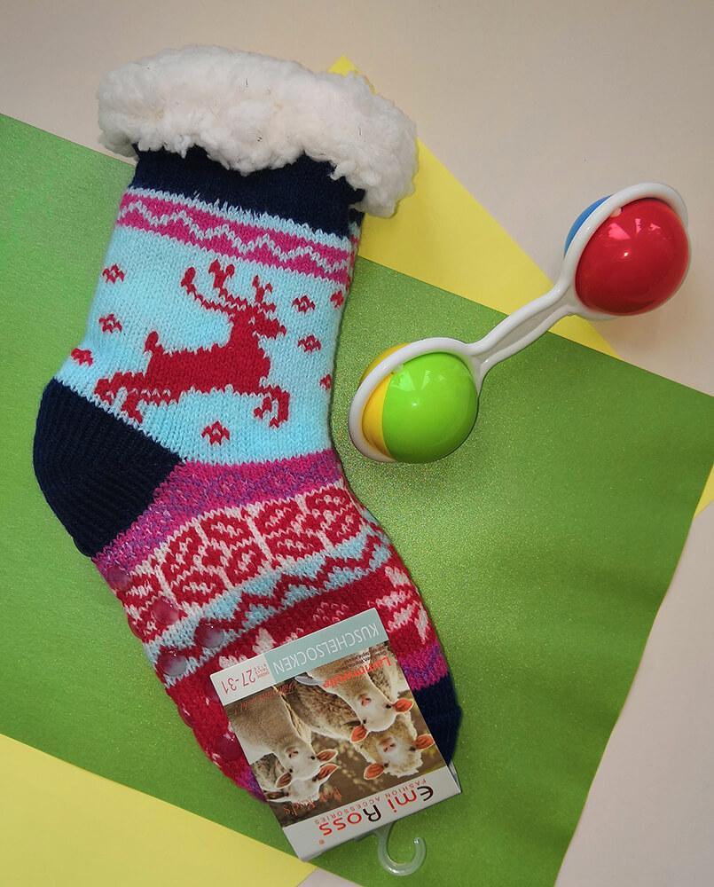 Детские носки-тапочки Emi Ross EJ-6208-b синего цвета.