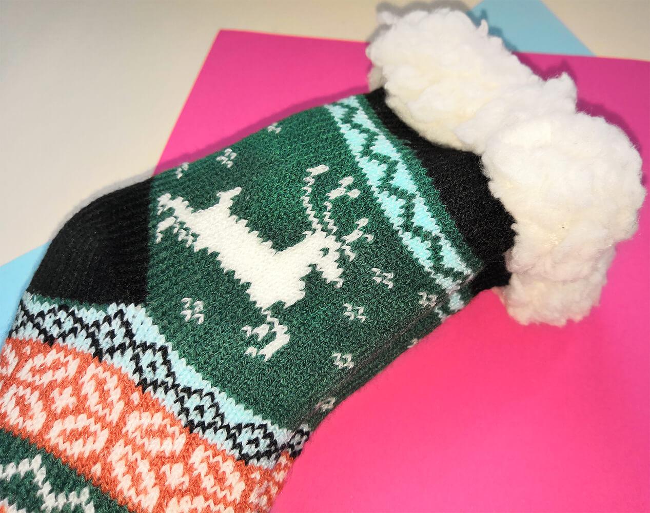 Детские носки-тапочки Emi Ross EJ-6208-bl зеленого цвета. 27-31 размера. Фото 2
