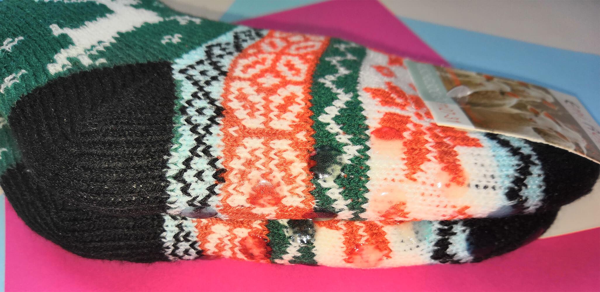Детские носки-тапочки Emi Ross EJ-6208-bl зеленого цвета. 27-31 размера. Фото 3