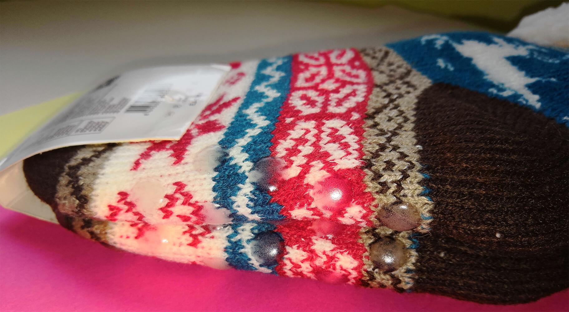 Детские носки-тапочки Emi Ross EJ-6208-br синего цвета. 32-35 размера. Фото 3