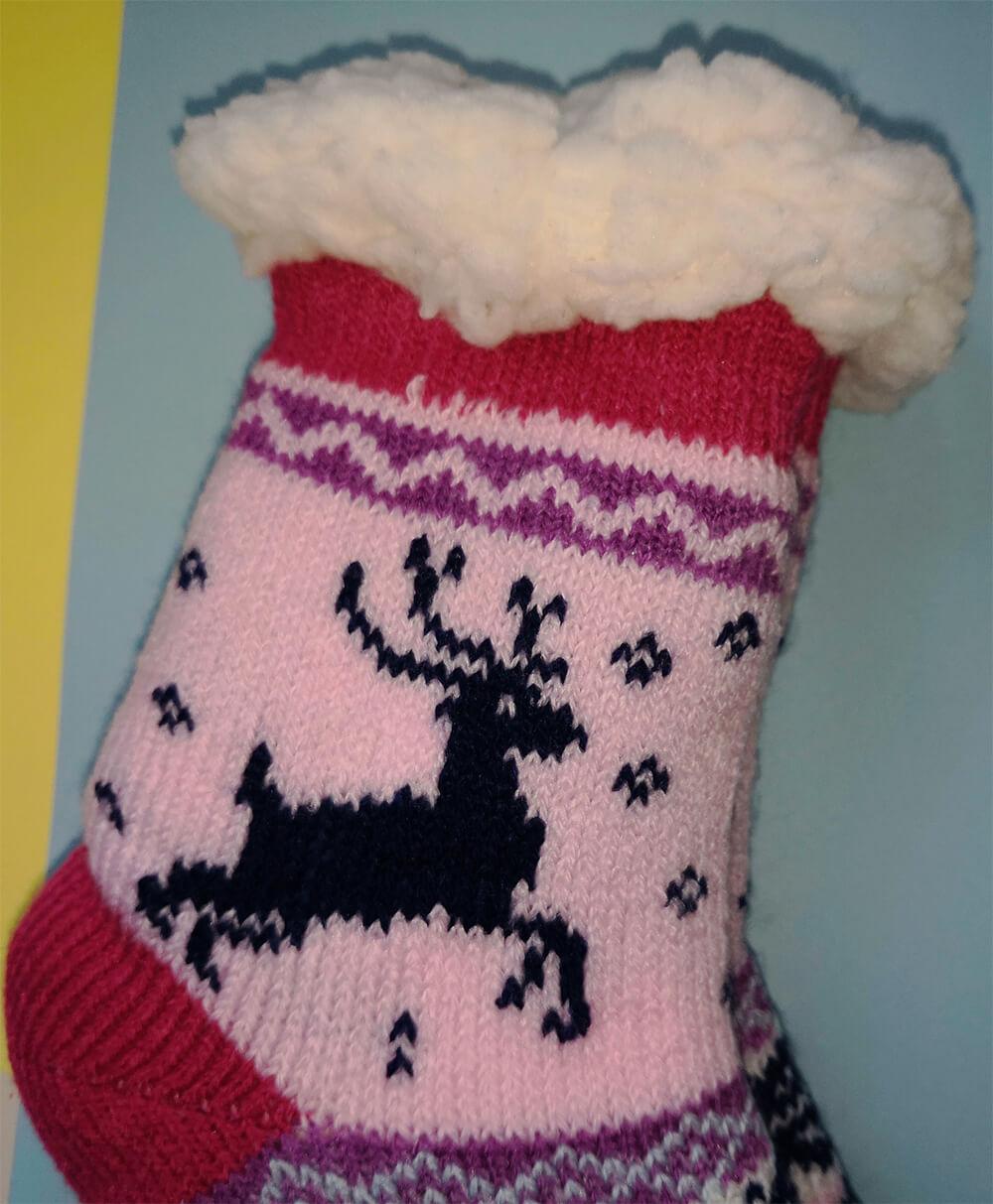 Детские носки-тапочки Emi Ross EJ-6208-p розового цвета. 32-35 размера. Фото 2