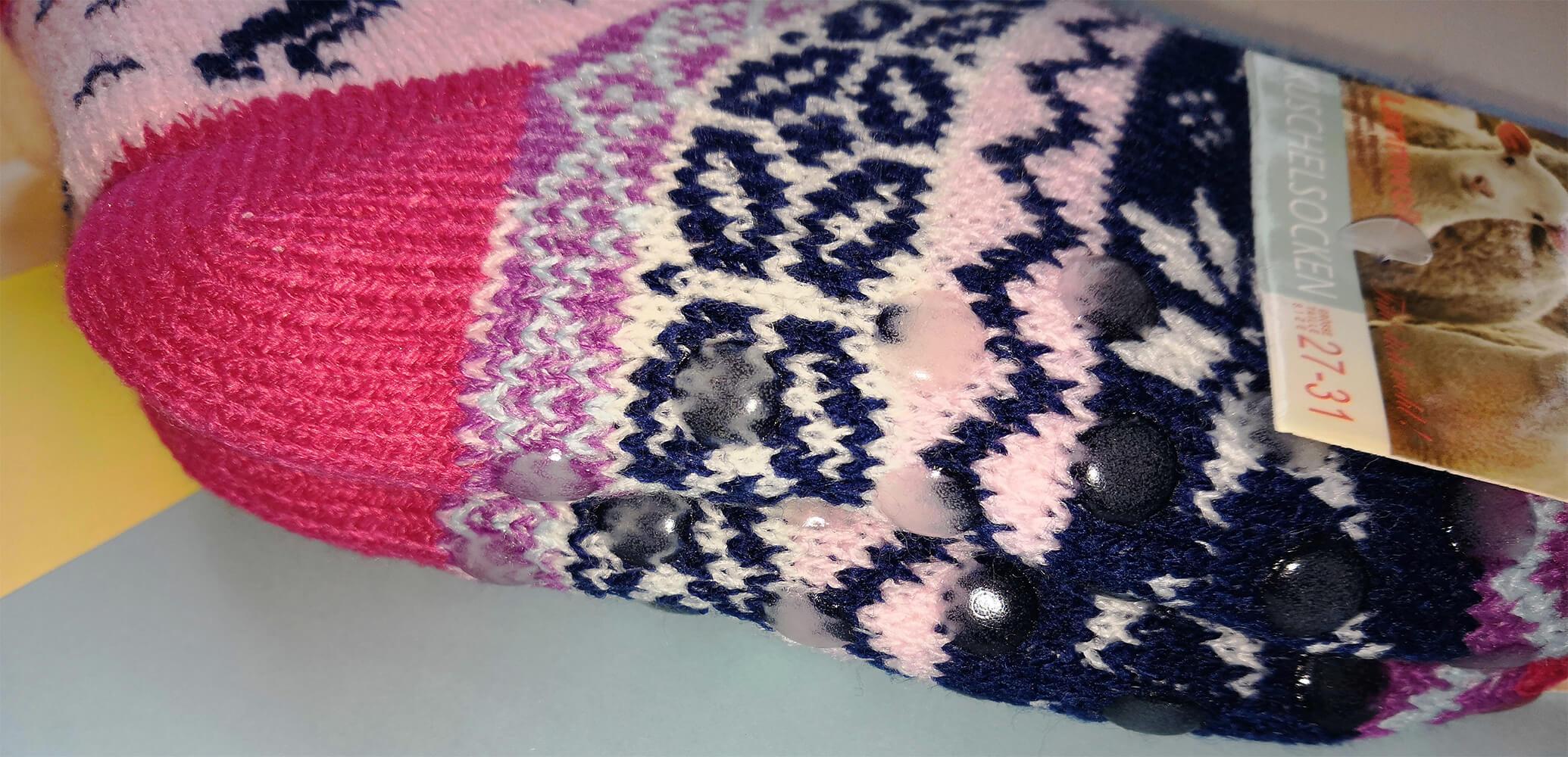 Детские носки-тапочки Emi Ross EJ-6208-p розового цвета. 32-35 размера. Фото 3