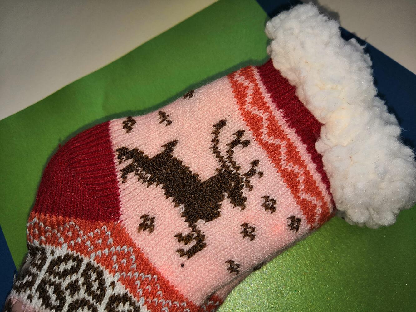 Детские носки-тапочки Emi Ross EJ-6208-r красного цвета. 32-35 размера. Фото 2