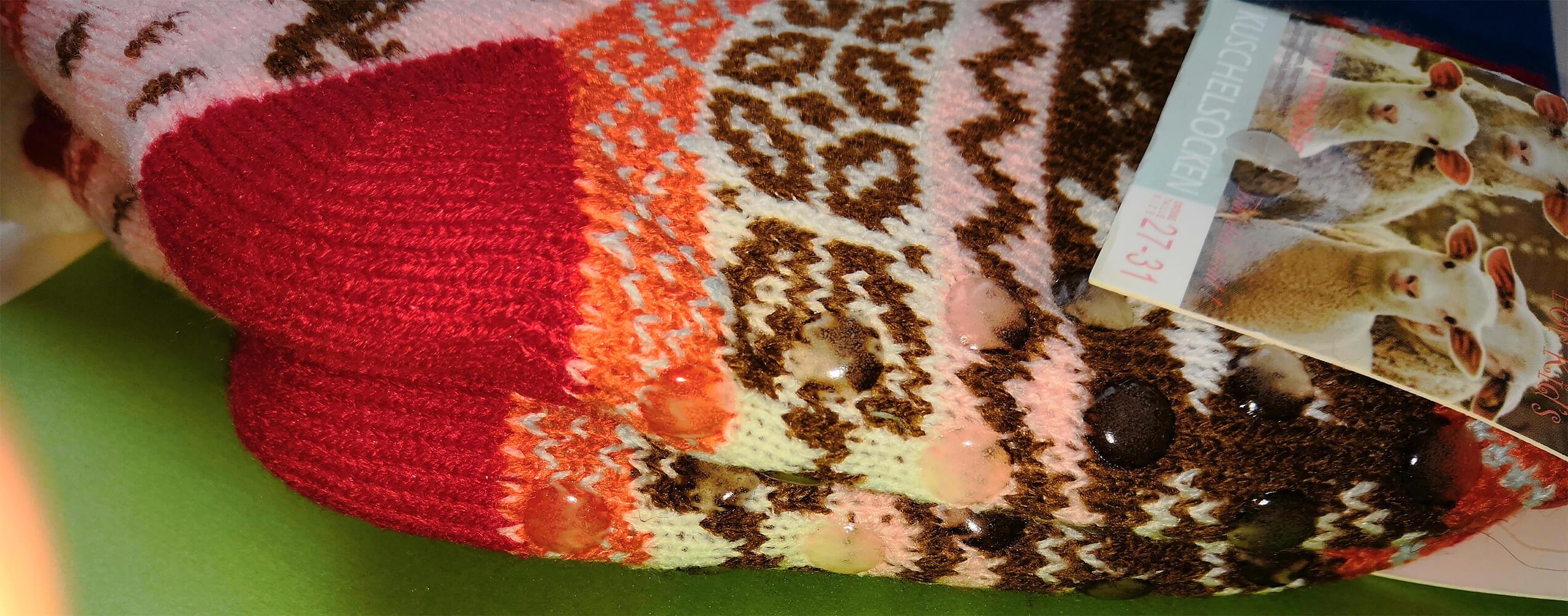 Детские носки-тапочки Emi Ross EJ-6208-r красного цвета. 32-35 размера. Фото 3
