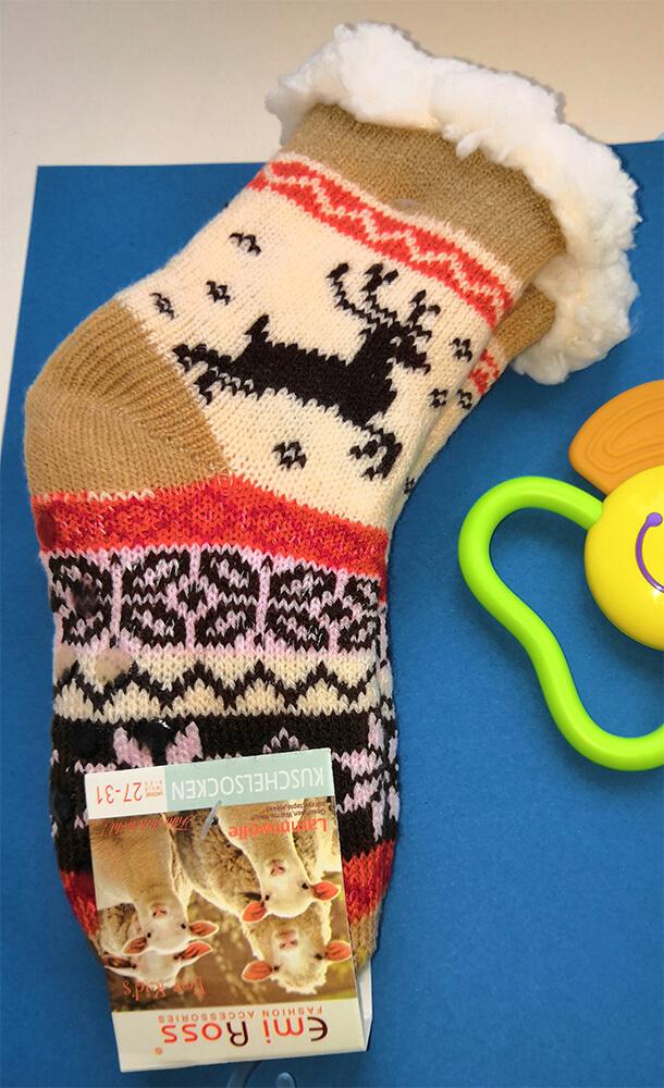 Детские носки-тапочки Emi Ross EJ-6208-y коричневого цвета. 32-35 размера