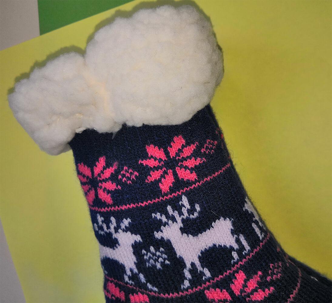 Детские носки-тапочки Emi Ross EJ-6209-b синего цвета. 27-31 размера. Фото 2