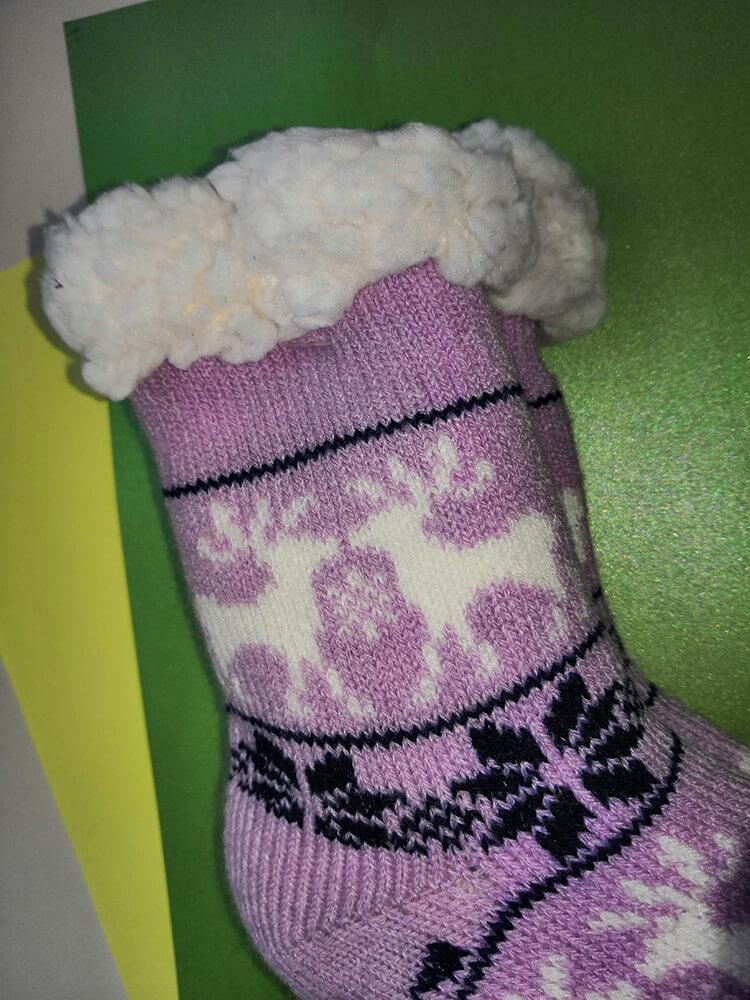 Детские носки-тапочки Emi Ross EJ-6209-p розового цвета. 32-35 размера. Фото 2