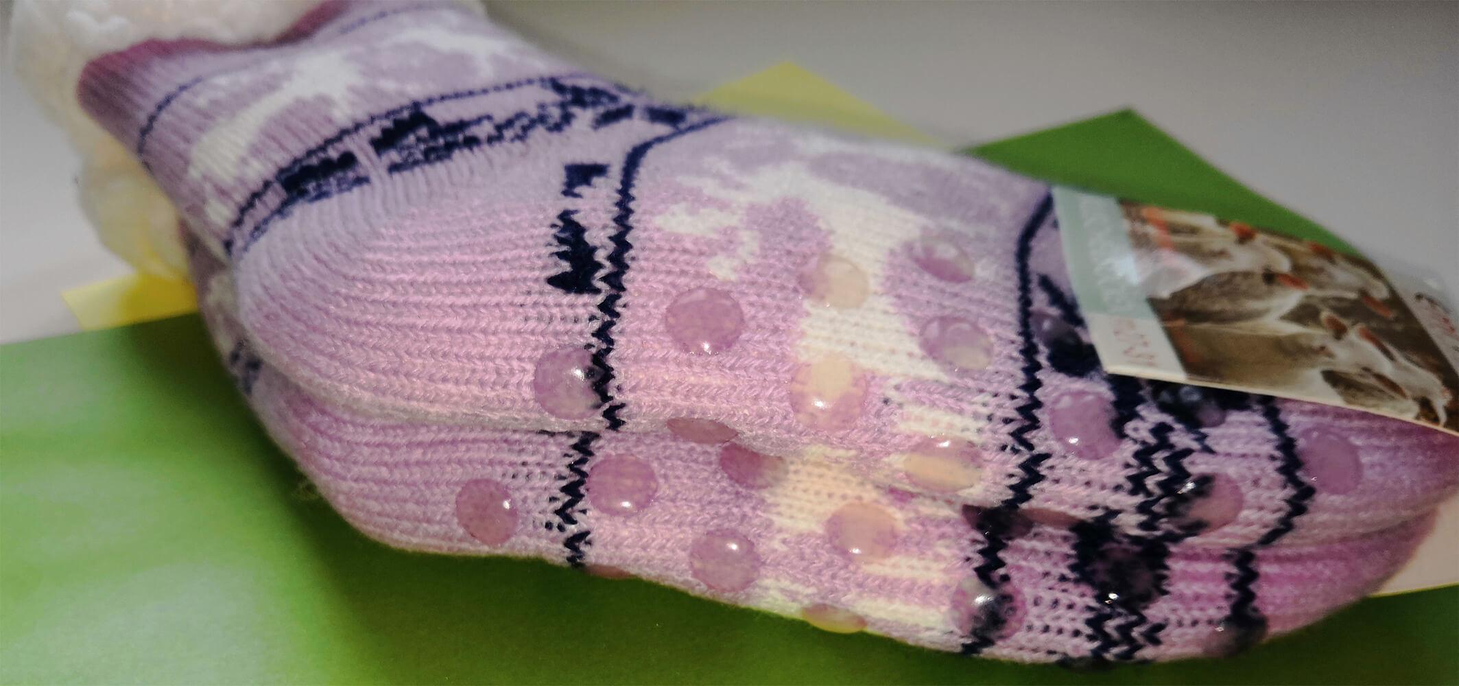 Детские носки-тапочки Emi Ross EJ-6209-p розового цвета. 32-35 размера. Фото 3