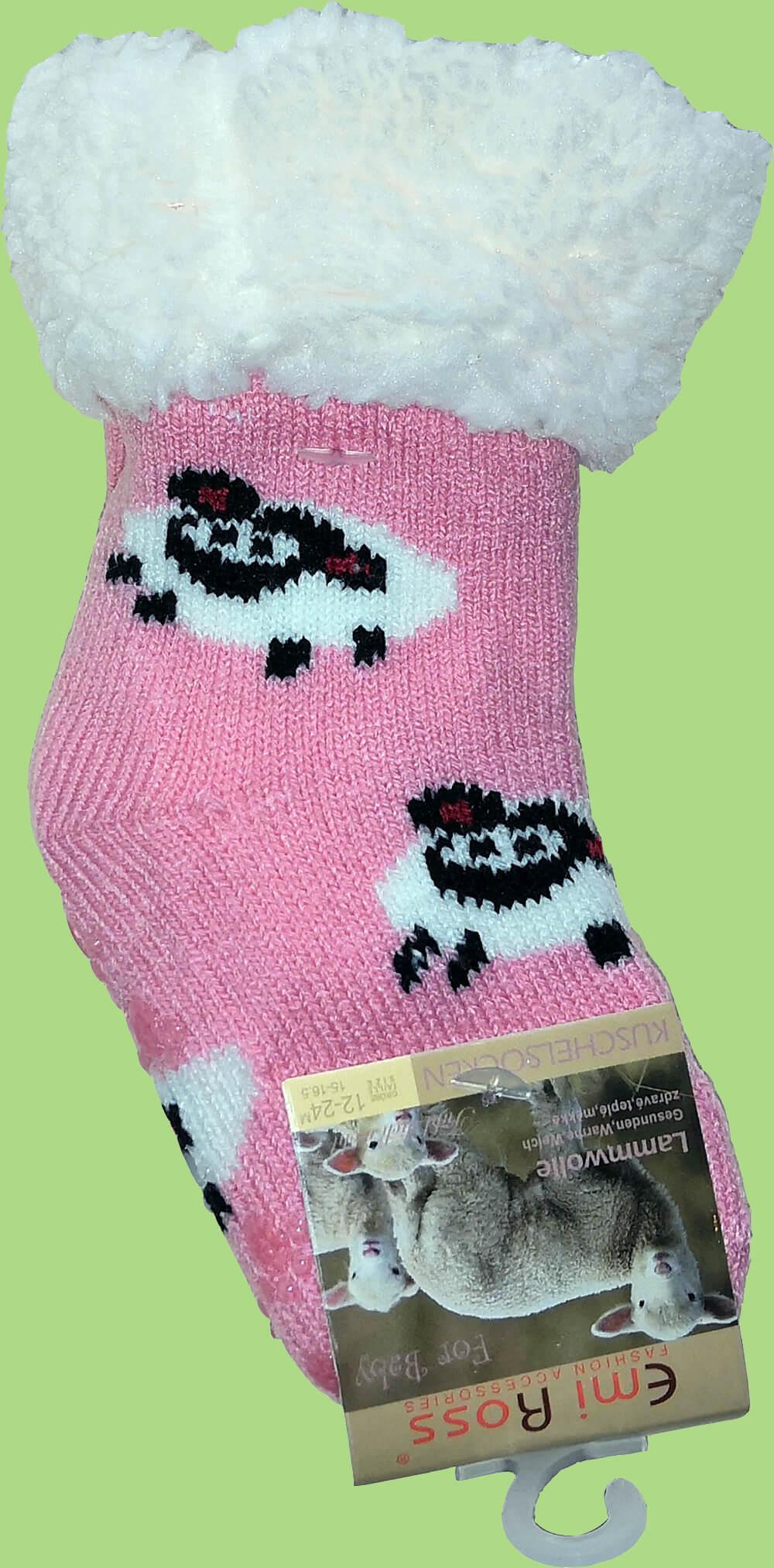 Детские носки-тапочки Emi Ross EJ-6812-p рожевого цвета. 17-19 размера