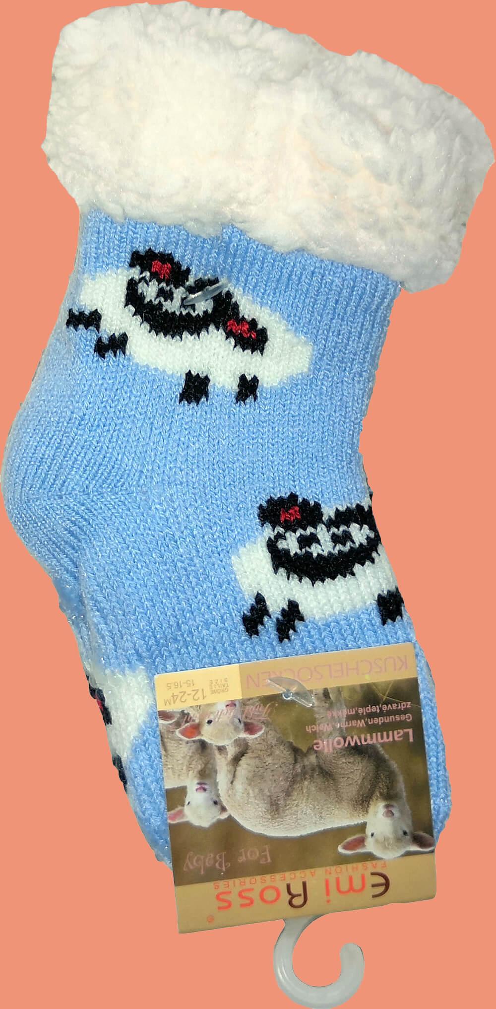 Детские носки-тапочки Emi Ross EJ-6812-bl синего цвета. 15-16,5 размера