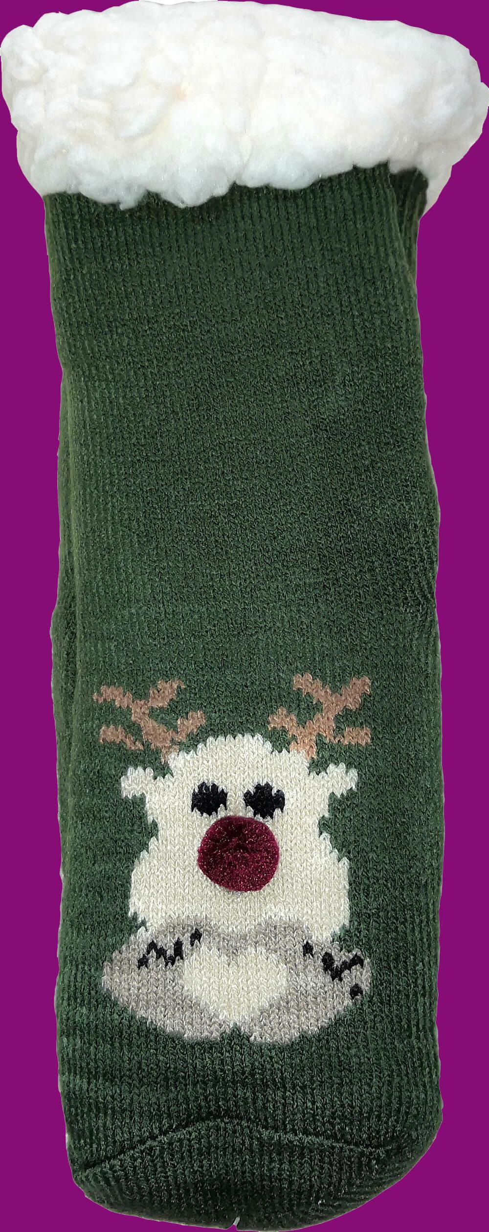 Дитячі шкарпетки-тапочки LookEN SM-HL-7211D-gr 26-28 розміру зеленого кольору.