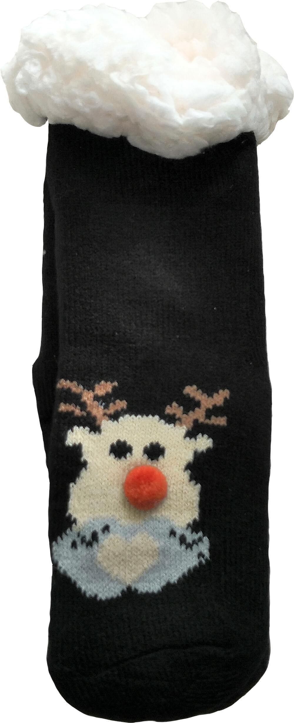 Детские носки-тапочки LookEN SM-HL-7211D черного цвета.