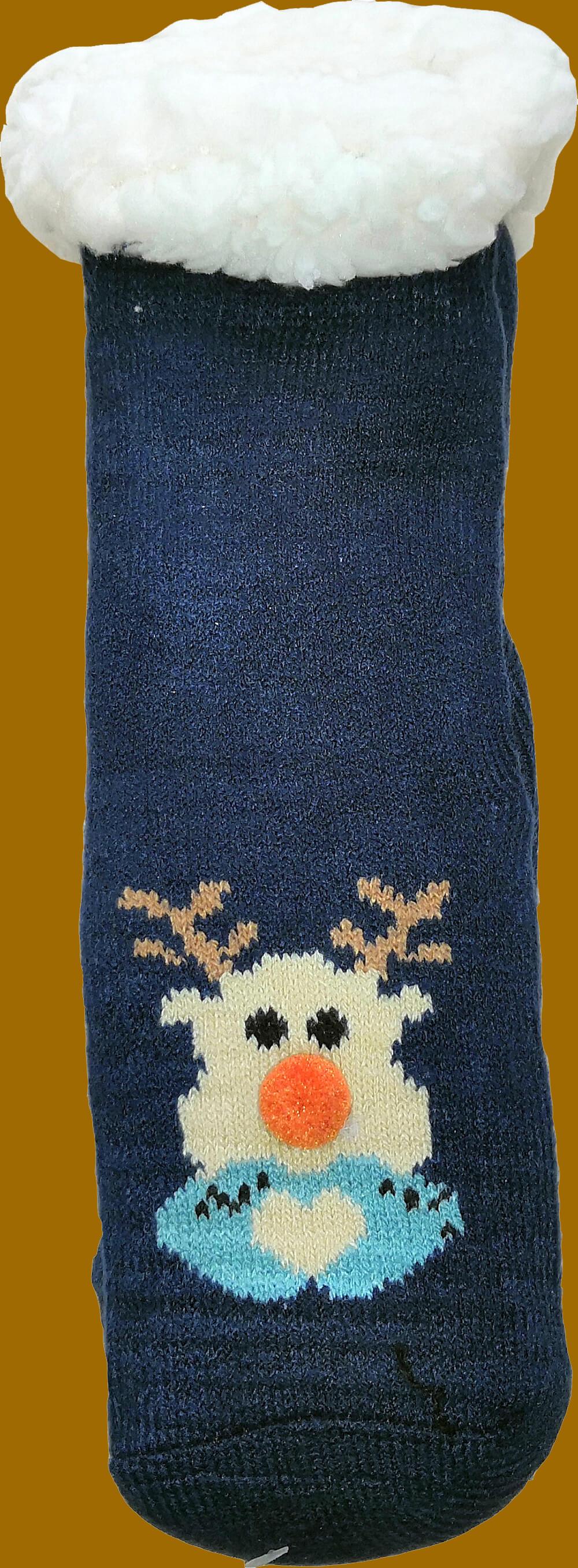 Детские носки-тапочки LookEN SM-HL-7211D-b 29-32 размера синего цвета.