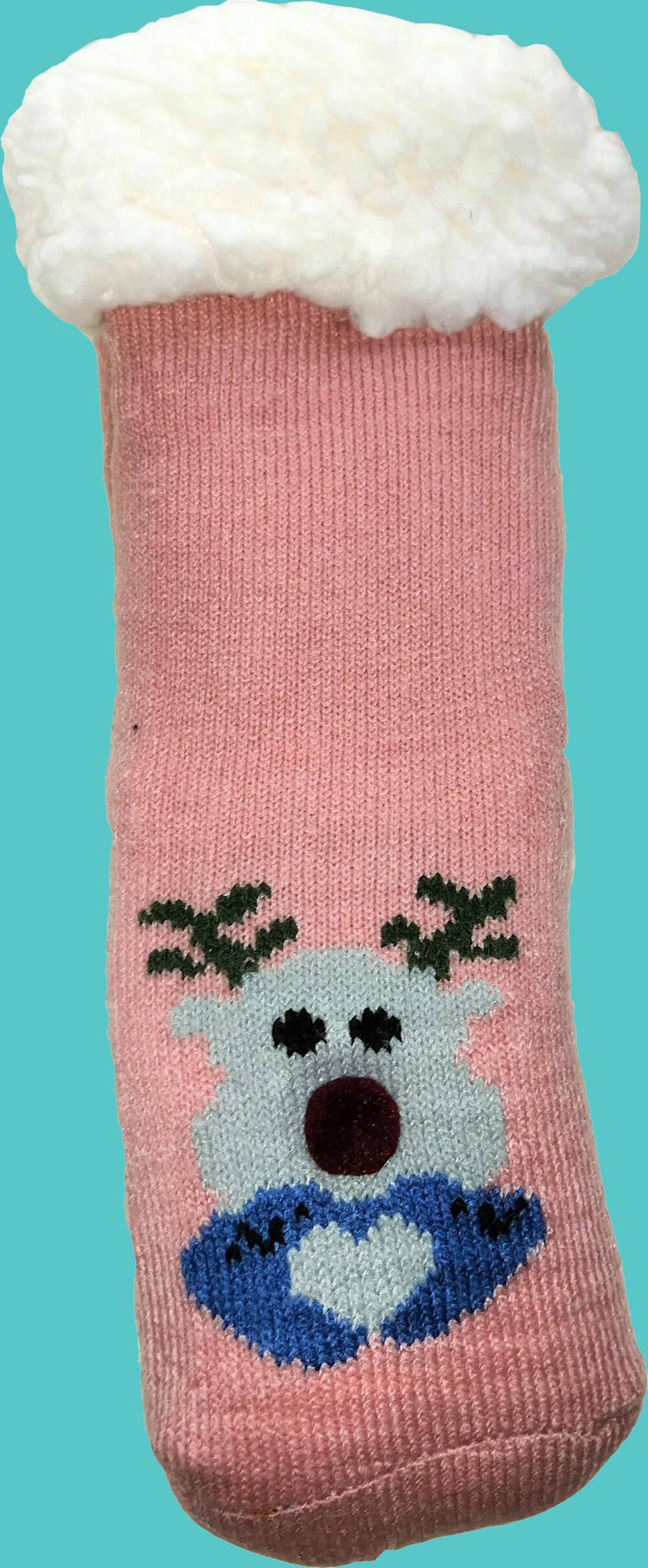 Детские носки-тапочки LookEN SM-HL-7211D розового цвета.