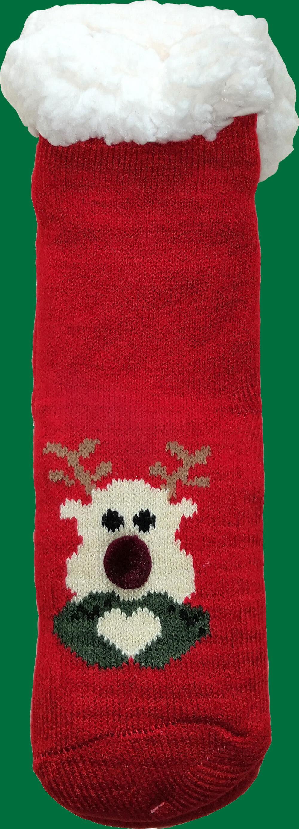 Детские носки-тапочки LookEN SM-HL-7211D красного цвета.