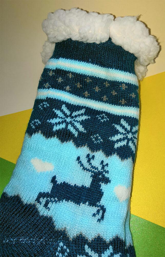 Женские тапочки-носки Emi Ross EJ-248-b 35-38 размера синего цвета. Фото 3