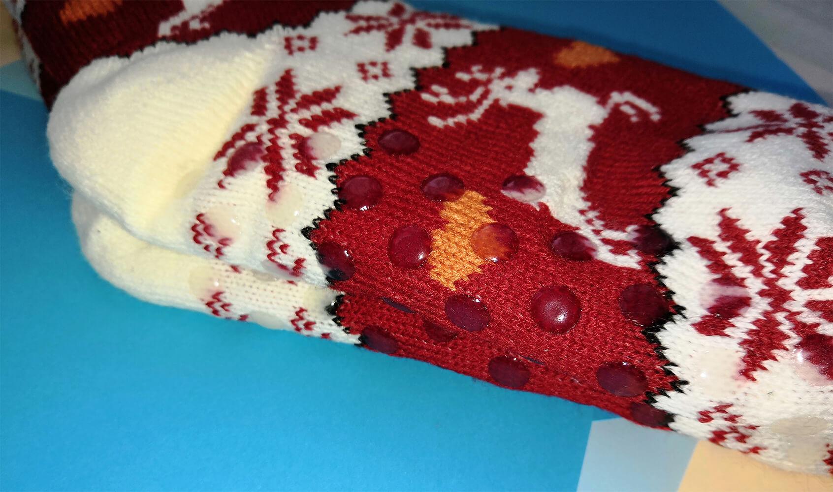 Женские тапочки-носки Emi Ross EJ-248-r красного цвета. Фото 2