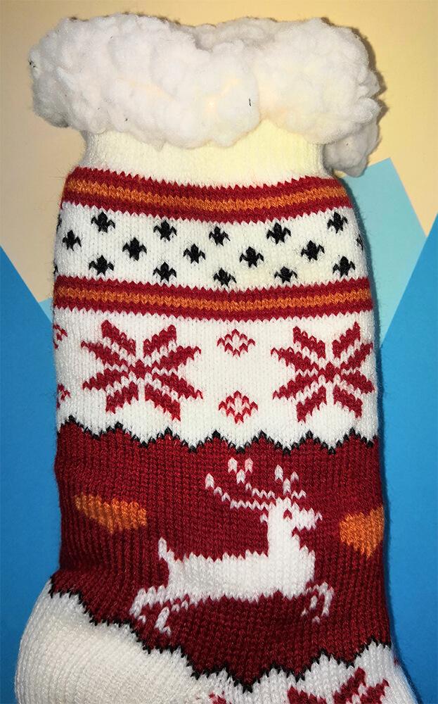 Женские тапочки-носки Emi Ross EJ-248-r красного цвета. Фото 3