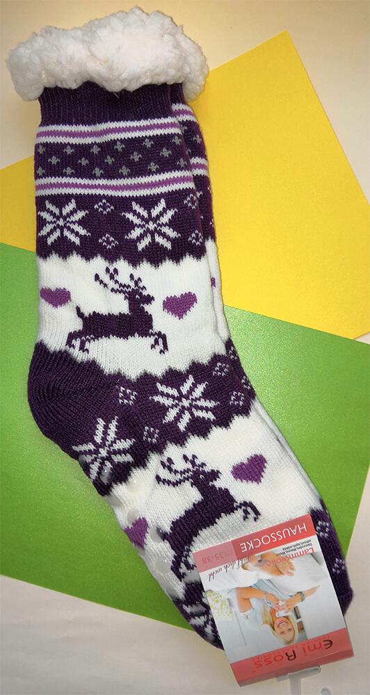 Женские тапочки-носки Emi Ross EJ-248-v 35-38 размера фиолетового цвета.